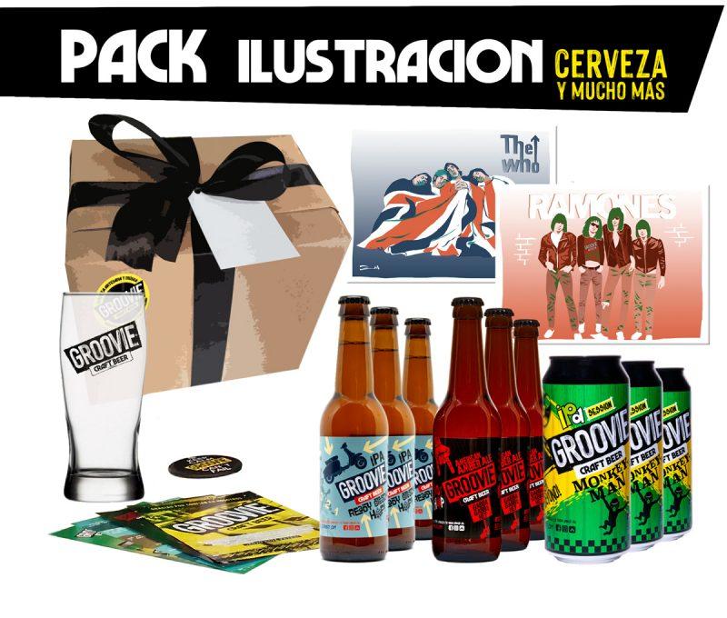 Pack cerveza e ilustracion